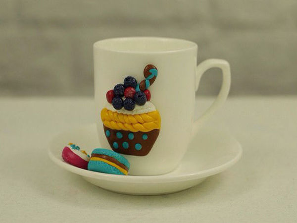 Видеоурок: декор чайного набора полимерной глиной | Ярмарка Мастеров - ручная работа, handmade