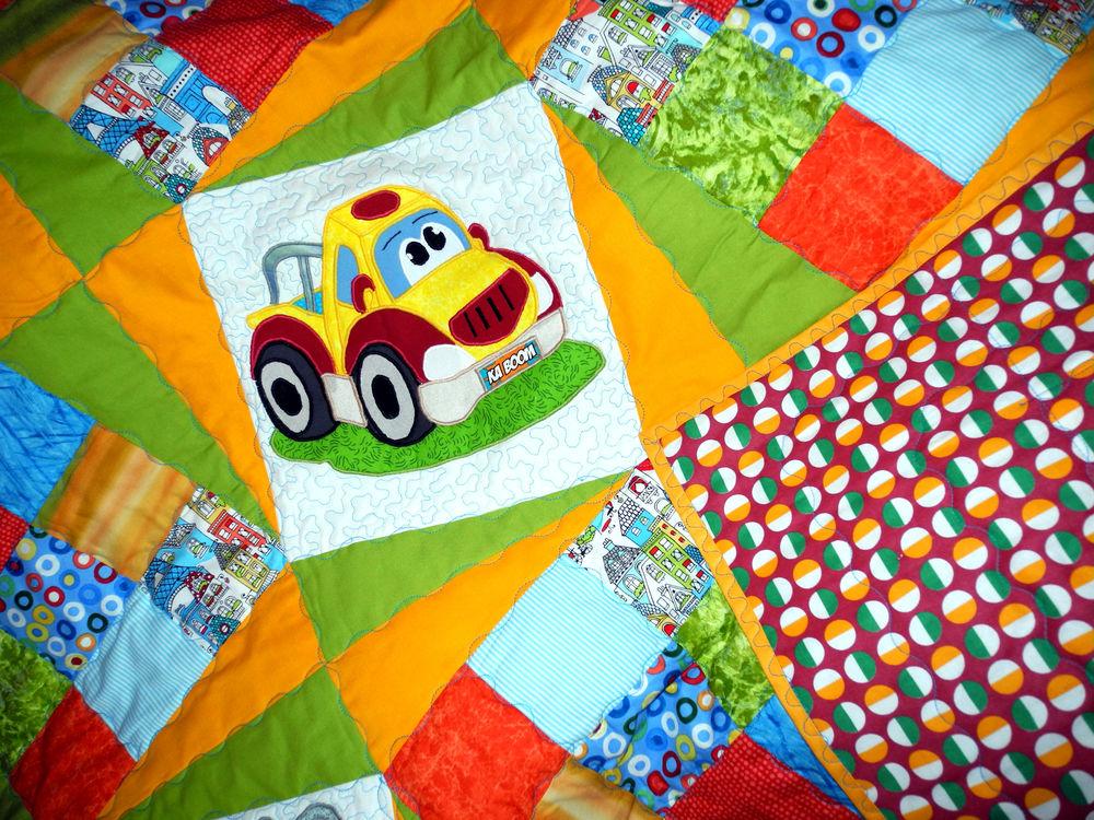 лоскутное одеяло детское, детский лоскутный плед, плед для детей