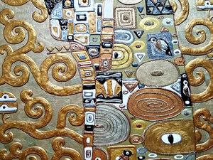 Фрагмент картины Древо жизни Густава Климта в золотых тонах Упоение. Ярмарка Мастеров - ручная работа, handmade.