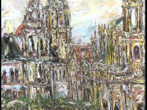 """Воспоминания о моей картине """"Дрезден"""". Ярмарка Мастеров - ручная работа, handmade."""