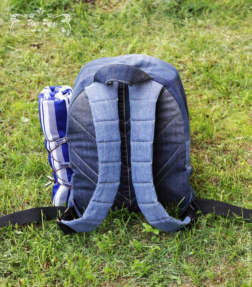 Шьем из джинсовой ткани удобный рюкзак для пикника на берегу моря, фото № 42