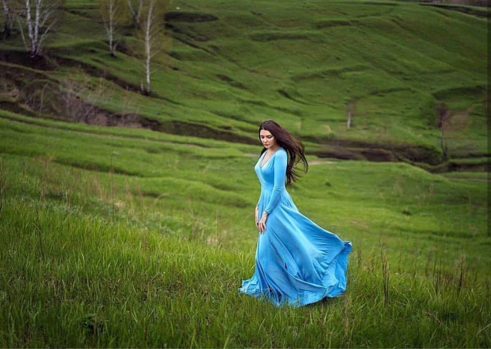 платье в пол, небесный, небесное платье, пошив, фотосессия, платье для беременных, купить платье