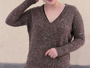 Новый твидовый пуловер!. Ярмарка Мастеров - ручная работа, handmade.