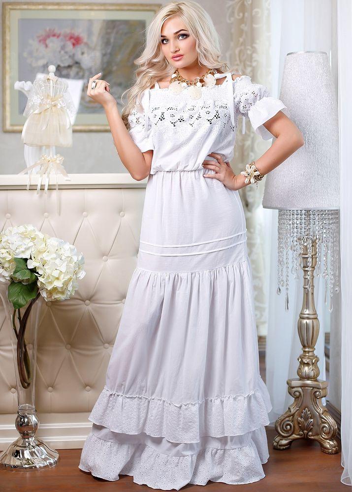 Белое бохо, или Шикарная одежда для королевы летнего пляжа, фото № 91