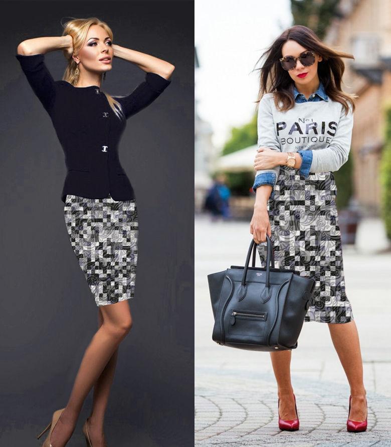 юбка в складку, юбка на заказ, интерлок, офисный стиль, юбка в клетку