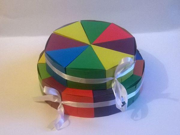 Мастерим коробочку «Кусочек торта» | Ярмарка Мастеров - ручная работа, handmade