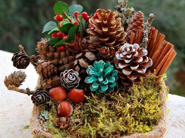 Новогодний декор своими руками | Ярмарка Мастеров - ручная работа, handmade