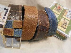 Аукцион Мужской ремень.,, Golf ,,   из натуральной кожи рыбы СЁМГА. Ярмарка Мастеров - ручная работа, handmade.