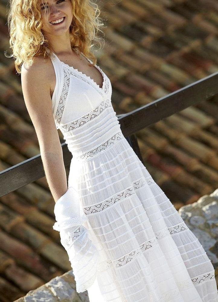 Белое бохо, или Шикарная одежда для королевы летнего пляжа, фото № 98