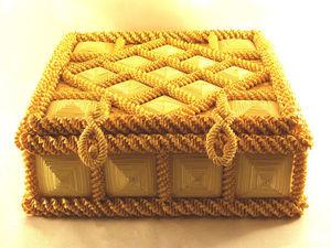 Шкатулка для рукоделия из соломки. Ярмарка Мастеров - ручная работа, handmade.