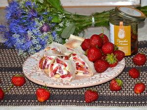 Рецепт летнего десерта с клубникой, рикоттой и медом!. Ярмарка Мастеров - ручная работа, handmade.