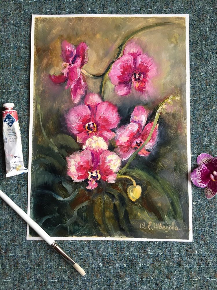 картина маслом цветы, ярмарка мастеров