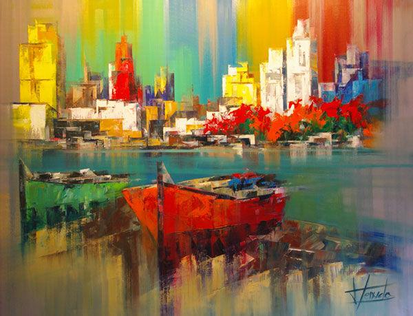 Особое очарование картин испанского художника Josep Teixido: смелая игра цвета и ничего лишнего   819e8be131326bce82c9f428f7t3