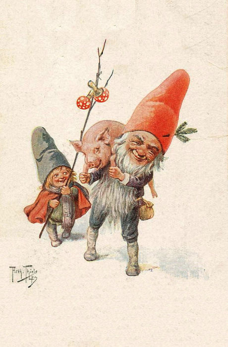 Новогодние открытки гном, картинках