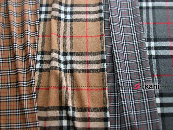 Осенние новинки! Костюмная и пальтовая ткань в стиле Барберри | Ярмарка Мастеров - ручная работа, handmade