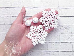 Скидка на серьги снежинки до 3 декабря. Ярмарка Мастеров - ручная работа, handmade.