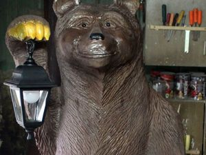 Вырезаем садовую скульптуру «Медведь». Ярмарка Мастеров - ручная работа, handmade.