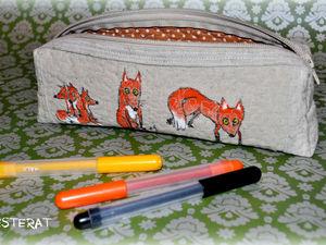 Создаем милый пенал с лисичками | Ярмарка Мастеров - ручная работа, handmade