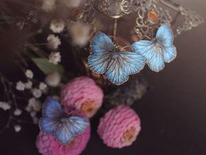 Маленькие, тёмно-синие.. Ярмарка Мастеров - ручная работа, handmade.