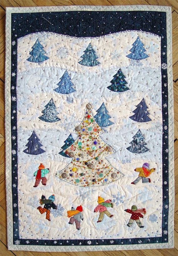 Quilted Winter Wall Hanging