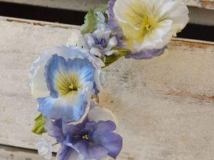 Цветы из шелка. Анютины глазки | Ярмарка Мастеров - ручная работа, handmade