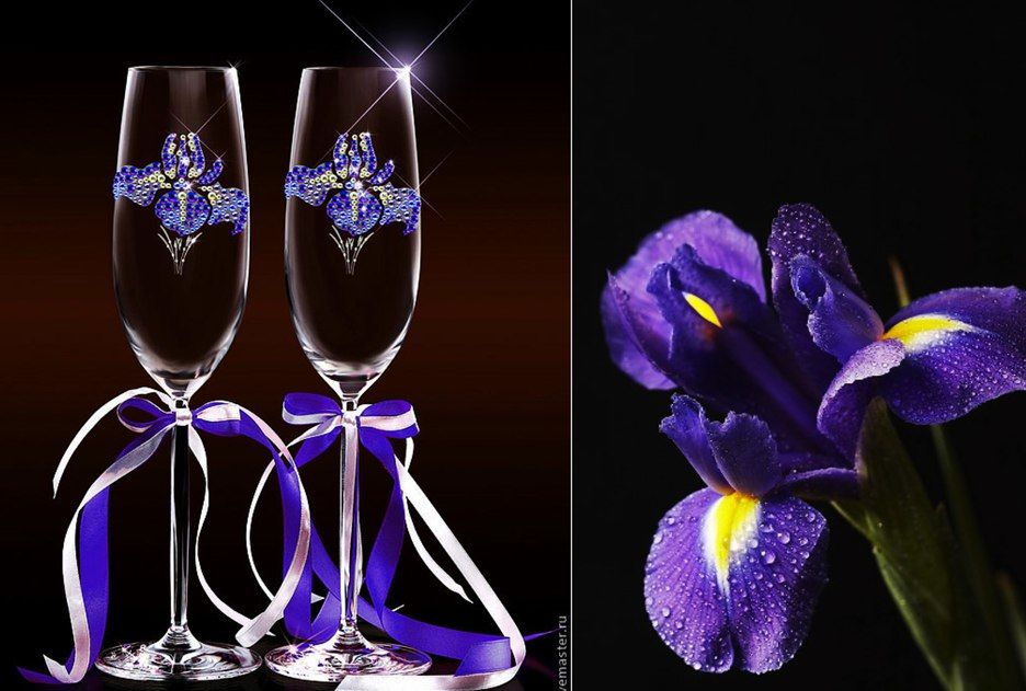ирисы, легендаобирисвахрадуга, богиняирида, посалниеирисов, ирисыизкристаллов, кристаллы, сваровски, кристаллысваровски, цветы, красивыеирисы, вересковыйсад, люблюирисы, декорацияирисы, красиваяпосудаирисы, посудасросписью, ирисынабокалах, фужеры, шампаньирисы