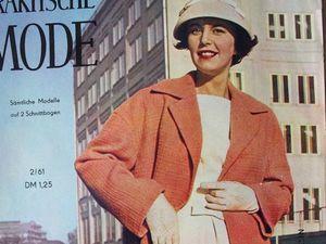 Praktische Mode — старый немецкий журнал мод 2/1961. Ярмарка Мастеров - ручная работа, handmade.