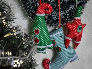Sewing a Set of Textile Toys for a Christmas Tree. Livemaster - handmade
