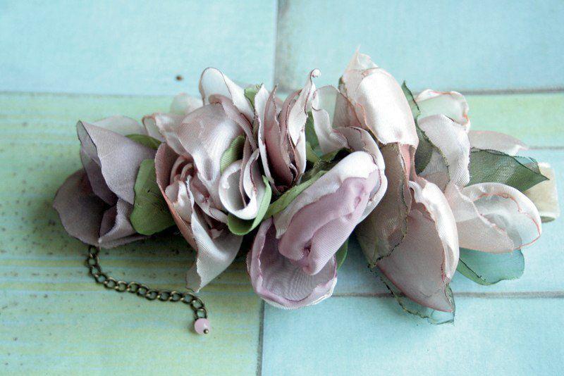 цветы из ткани, любовь, цветы своими руками