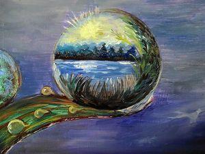 Аукцион на картину Зеркало мира. Ярмарка Мастеров - ручная работа, handmade.