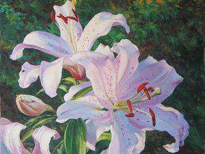Лилии в живописи художника Александра Пирогова. Ярмарка Мастеров - ручная работа, handmade.