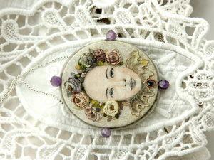 """Альфрейка на шелке в серебре """"Аметистовое лето"""". Ярмарка Мастеров - ручная работа, handmade."""