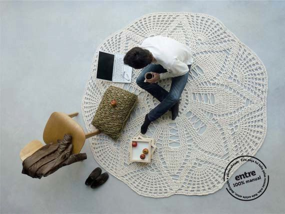 Giant Doily-Style Rugs from Portugal