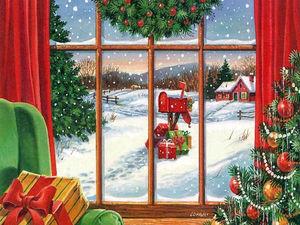 Немного волшебства: украшаем окна к Новому году и Рождеству | Ярмарка Мастеров - ручная работа, handmade
