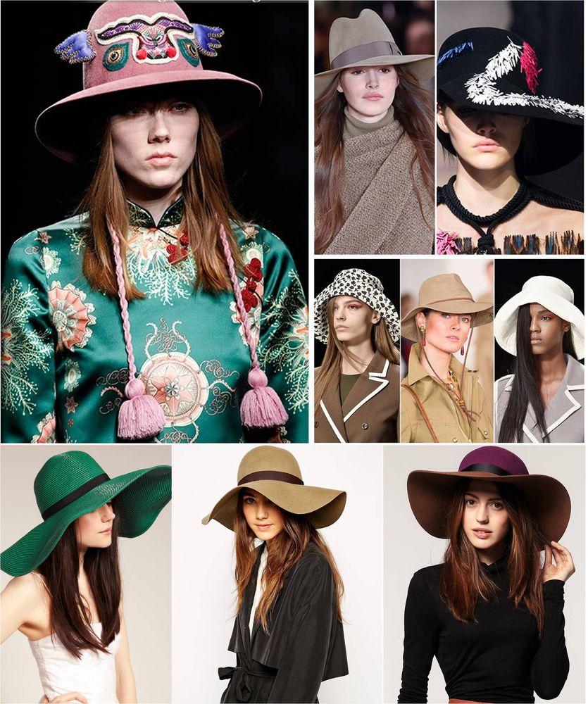 модные шапки 2017, модные шляпы