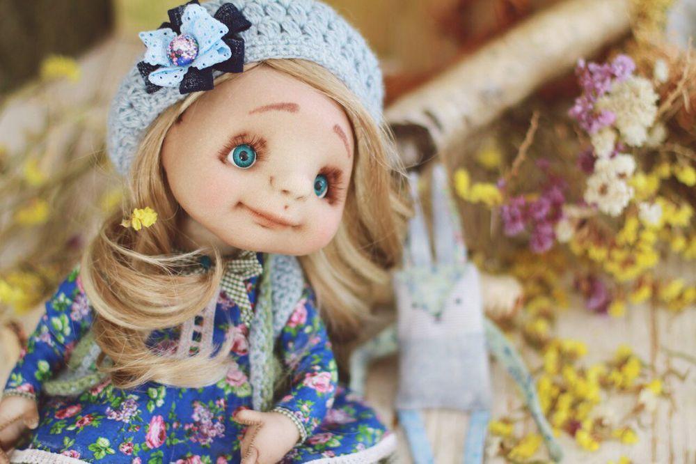 8 марта, подарок, весна, авторская работа, авторская кукла, минск, беларусь, синий, тепло, душевный подарок