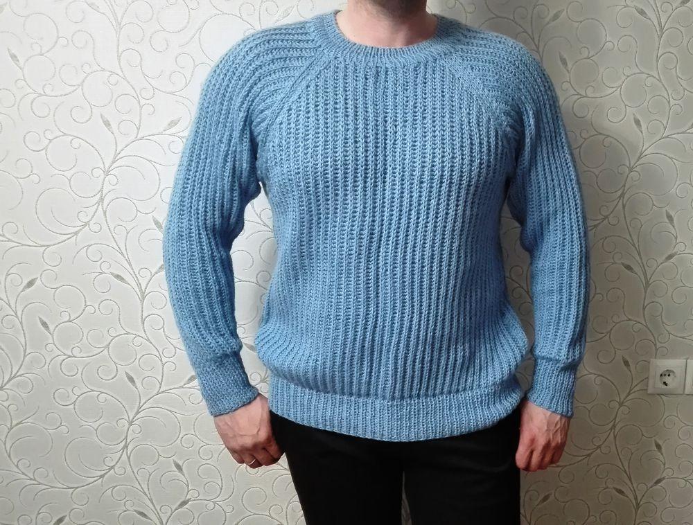 свитер вязаный, мужской джемпер