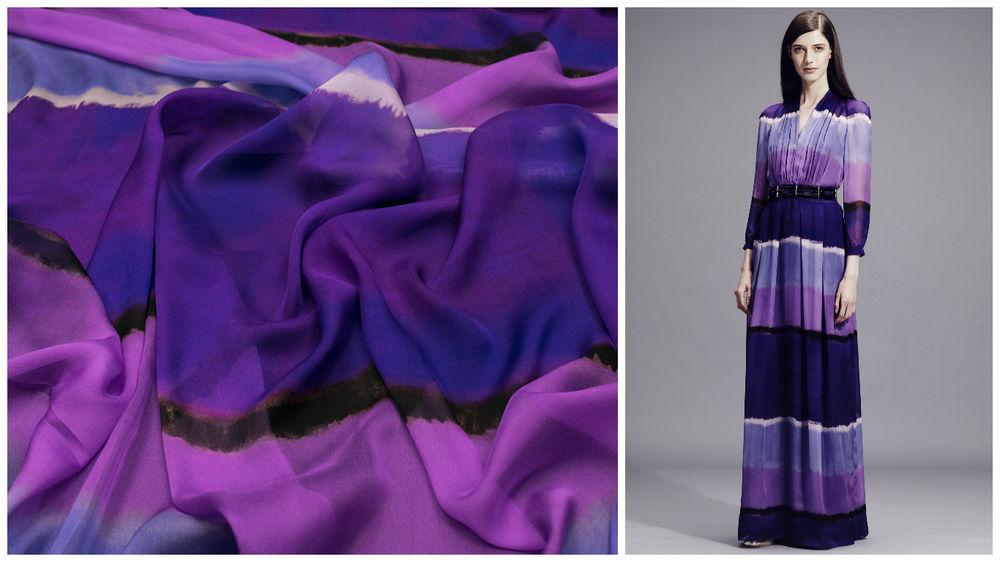 итальянские ткани, итальянский шелк, градиент, брендовые ткани, alberta ferretti, шифон
