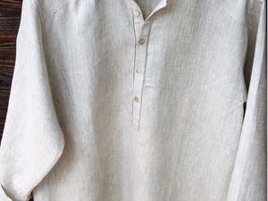 Льняные рубашки для  больших мужчин | Ярмарка Мастеров - ручная работа, handmade