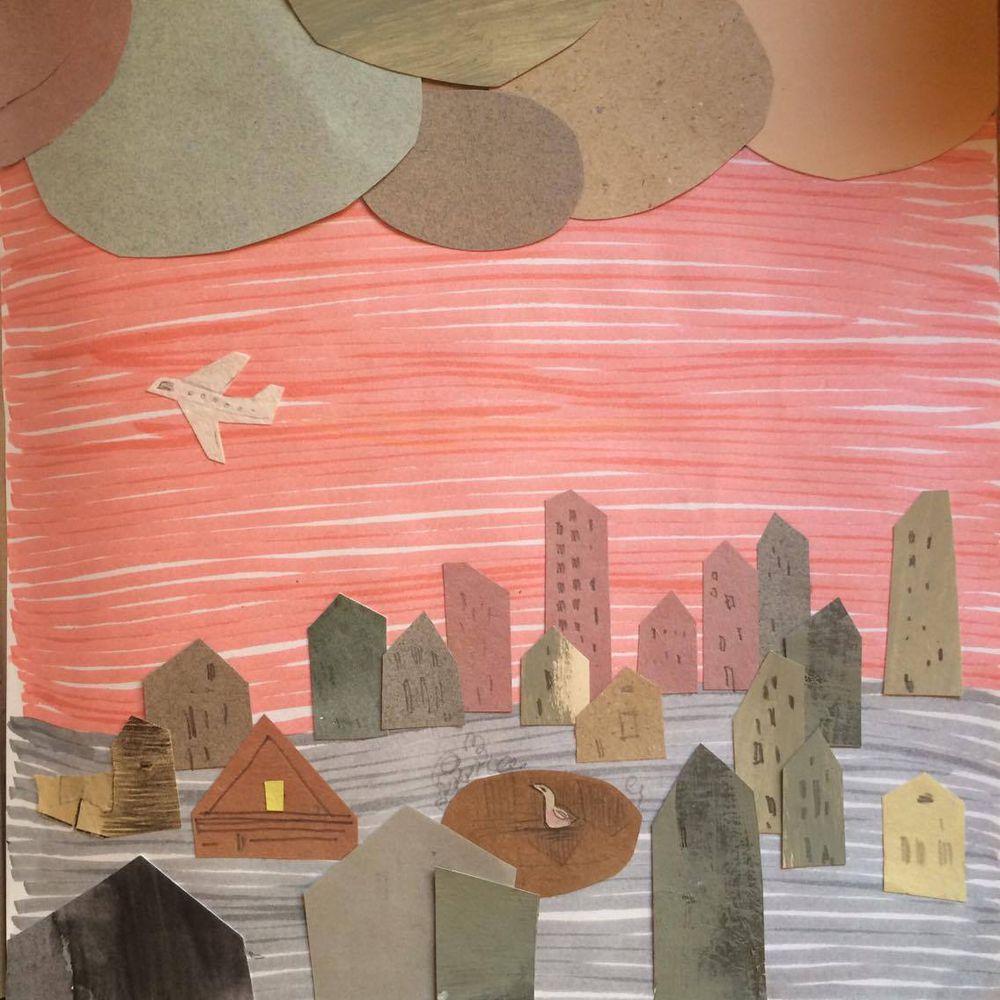 коллаж, иллюстрации, детская книга, творчество