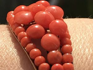 Антикварный браслет с натуральными кораллами. Ярмарка Мастеров - ручная работа, handmade.