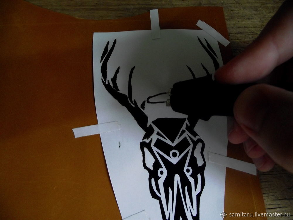 пирография по коже, роспись по коже, как выжигать на коже