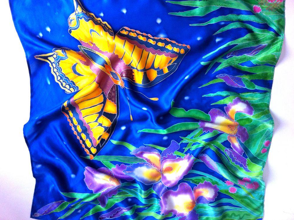 поддержка, магазин шёлковый рай, батик платок