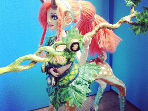 Видеоурок: Ooak Repaint doll Enchantress dota 2 custom Олениха. Ярмарка Мастеров - ручная работа, handmade.