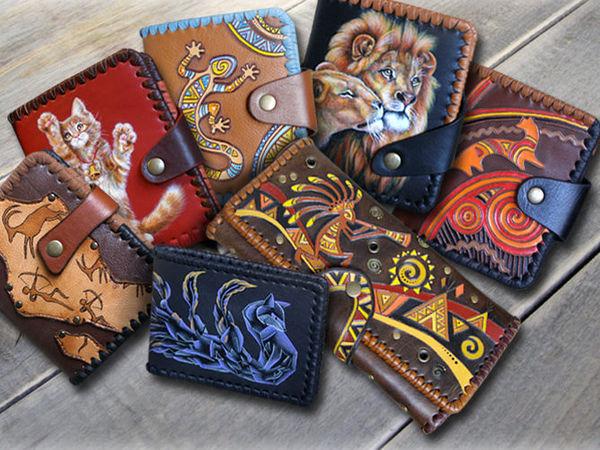 Кожаный кошелек на заказ – лучший подарок на все случаи жизни | Ярмарка Мастеров - ручная работа, handmade