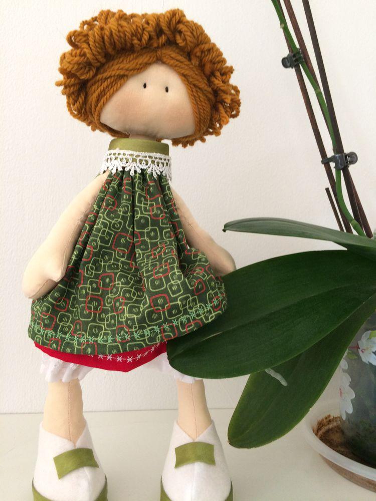 текстильная кукла, швейная машина, выкройка, платье для куклы
