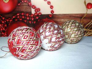 Изготавливаем новогодние шары-темари. Ярмарка Мастеров - ручная работа, handmade.