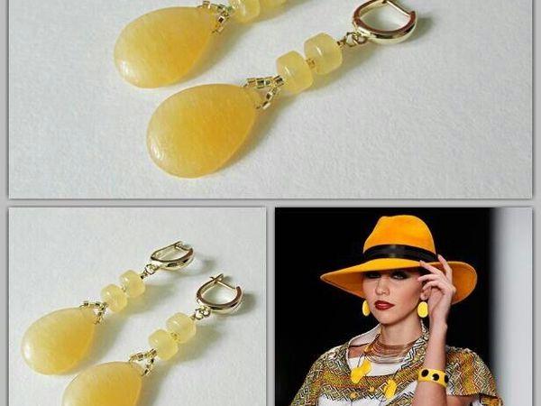 Анонс! Новые серьги желтый опал от Olga Gardenia | Ярмарка Мастеров - ручная работа, handmade
