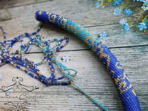 Сине-голубые завитки. Ярмарка Мастеров - ручная работа, handmade.