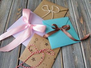 Делаем простой и быстрый квадратный конверт с бантиком. Ярмарка Мастеров - ручная работа, handmade.